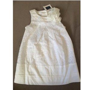 NWT. Adorable white floral print dress.